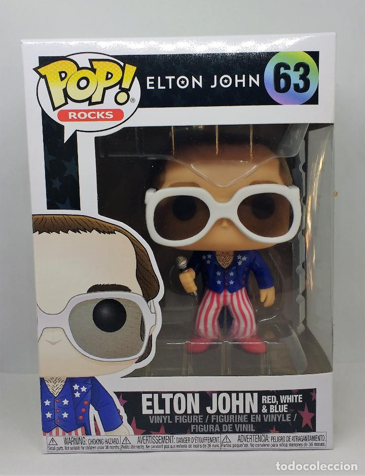 FUNKO FIGURA POP ELTON JOHN RED WHITE BLUE 63 (Juguetes - Figuras de Goma y Pvc - Otras)