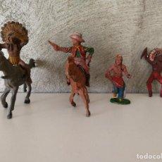 Figuras de Goma y PVC: LOTE INDIOS Y VAQUEROS EN GOMA LAFREDO . Lote 116134359