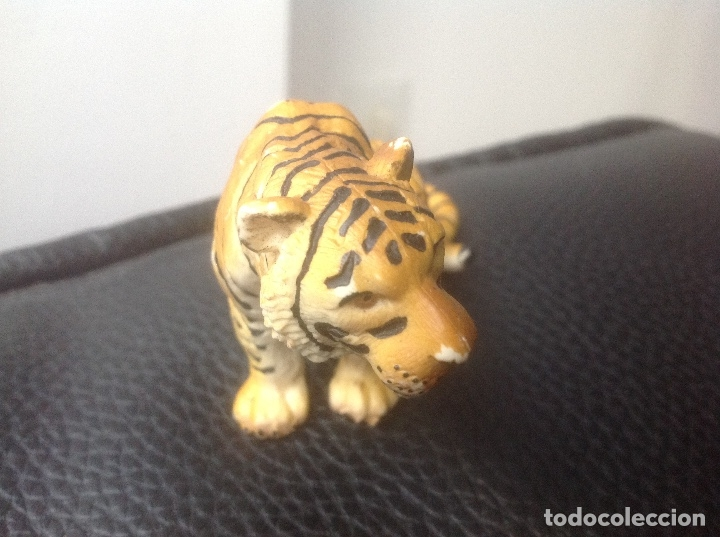 Figuras de Goma y PVC: Figura Tigre Shleich en PVC 1993 - Foto 3 - 56285736