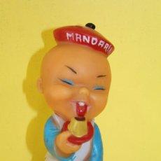 Figuras de Goma y PVC: MUÑECO CHINO DE GOMA - PUBLICIDAD DE FLAN MANDARIN - AÑOS 60. Lote 116327823
