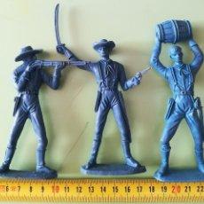 Figuras de Goma y PVC: TRES SOLDADOS CABALLERÍA COMANSI GRAN TAMAÑO SERIE CONFEDERADOS. Lote 116384207