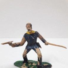 Figurines en Caoutchouc et PVC: OFICIAL FEDERAL - 7º DE CABALLERIA . FIGURA REAMSA . BATALLA LITTLE BIG HORN. Lote 116540487