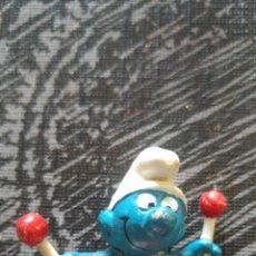 Figuras de Goma y PVC: PITUFO TAMBOR PVC PEYO. Lote 116709826