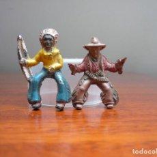 Figuras de Goma y PVC: INDIO Y VAQUERO JINETES DE CAPELL; EN PLÁSTICO.. Lote 116719483