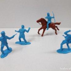 Figuras de Goma y PVC: INDIOS Y VAQUEROS . FIGURAS REALIZADAS CON MOLDES DE REAMSA . EN PLASTICO MONOCOLOR . Lote 116951727