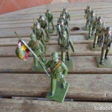 Figuras de Goma y PVC: 13 SOLDADOS REGIMIENTO DE ARTILLERIA DESFILANDO EJERCITO ESPAÑOL REAMSA SOLDIS. Lote 117005603