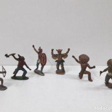 Figuras de Goma y PVC: GUERREROS INDIOS DE DIFERENTES FABRICANTES ESPAÑOLES . AÑOS 50 EN GOMA. Lote 117034535