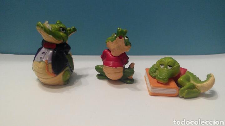 LOTE TRES FIGURAS KINDER FERRERO COCODRILOS AÑOS 90 COCODRILO (Juguetes - Figuras de Gomas y Pvc - Kinder)