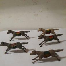 Figuras de Goma y PVC: LOTE DE CINCO CABALLOS INDIOS GOMA REAMSA MARCADOS. Lote 117145896