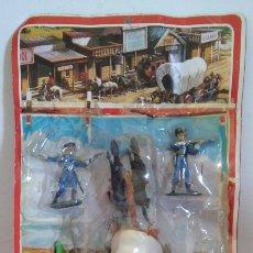 Figuras de Goma y PVC: CARRETA OESTE SOLDADOS.INCOMPLETA.NOVOLINEA COMANSI 70S.SIN USO.. Lote 117314915