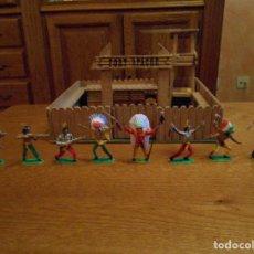 Figuras de Goma y PVC: 8 FIGURAS DIFERENTES. INDIOS, INDIO COMANSI AÑOS 70/80. SERIE COMPLETA. Lote 110513811