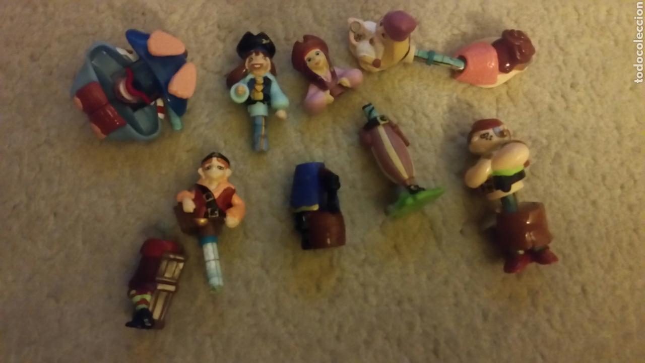 Figuras Kinder: Lote 6 piratas kinder con mapa dentro - Foto 2 - 117323379