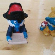 Figurines en Caoutchouc et PVC: PITUFO PIRATA - PITUFO REY. Lote 117439091