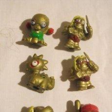 Figuras de Goma y PVC: LOS ZOMLINGS 6 FIGURAS DORADAS DORADO ORO , . Lote 117443251