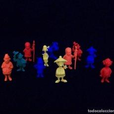 Figuras de Goma y PVC: 11 FIGURAS PROMOCIONALES TIPO DUNKIN. LUCKY LUKE (GRANDES). Lote 117445707