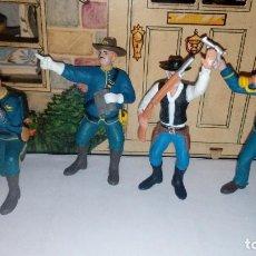 Figuras de Goma y PVC: LOTE DE 4 FIGURAS CMS 11 DE GOMA SOLDADOS AMERICANOS ...VER FOTOS. Lote 117638467