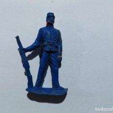 Figuras de Goma y PVC: VAQUERO OESTE JECSAN EN PVC SOLDADO NORDISTA. Lote 117667255