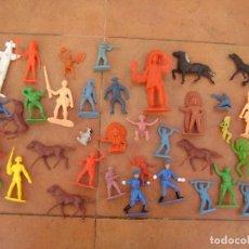 Figuras de Goma y PVC: LOTE DE INDIOS VAQUEROS , COMANSI , REAMSA ,PECH ECT.. Lote 118105347