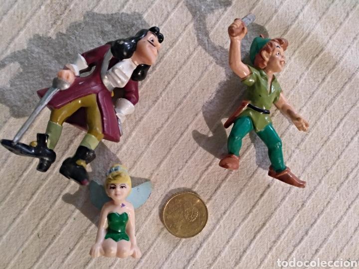 LOTE 3 FIGURAS PVC BULLYLAND PETER PAN, GARFIO, CAMPANILLA DISNEY (Juguetes - Figuras de Goma y Pvc - Bully)