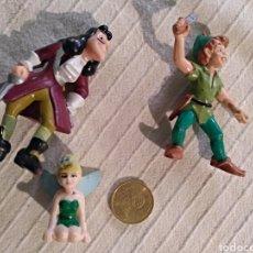 Figuras de Goma y PVC: LOTE 3 FIGURAS PVC BULLYLAND PETER PAN, GARFIO, CAMPANILLA DISNEY. Lote 118127467