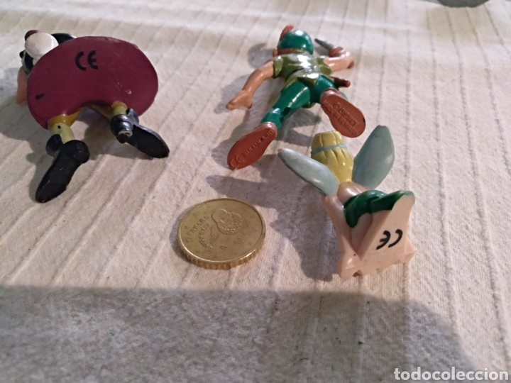 Figuras de Goma y PVC: Lote 3 figuras pvc Bullyland Peter Pan, Garfio, Campanilla Disney - Foto 3 - 118127467