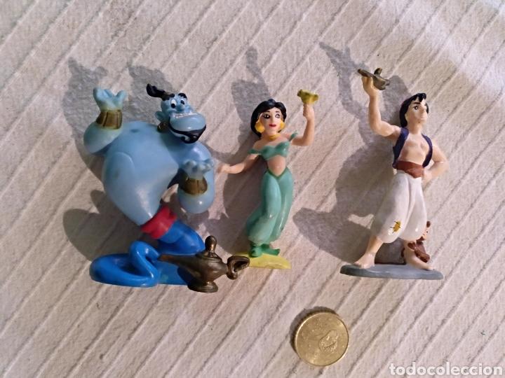 LOTE 3 FIGURAS PVC DISNEY BULLYLAND ALADINO GENIO JAZMIN (Juguetes - Figuras de Goma y Pvc - Bully)