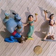 Figuras de Goma y PVC: LOTE 3 FIGURAS PVC DISNEY BULLYLAND ALADINO GENIO JAZMIN. Lote 118127820