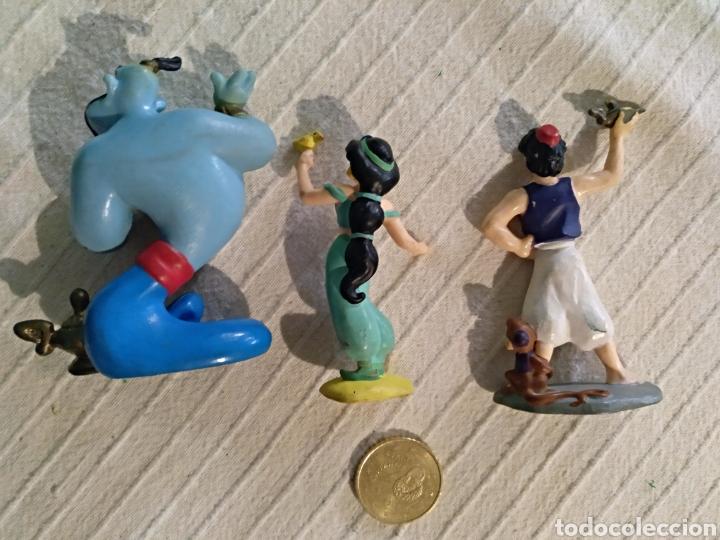Figuras de Goma y PVC: Lote 3 figuras pvc Disney Bullyland Aladino genio Jazmin - Foto 2 - 118127820