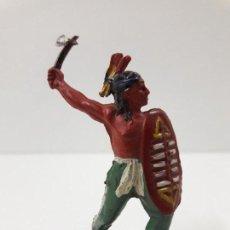 Figuras de Goma y PVC: GUERRERO INDIO . REALIZADO POR PECH . AÑOS 50 EN GOMA. Lote 118190723