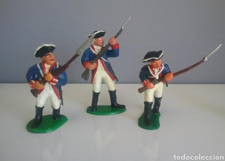 Figuras de Goma y PVC: Guerra revolución independencia americana,BMC soldados británicos,americanos y francés esc. britains - Foto 7 - 118255502