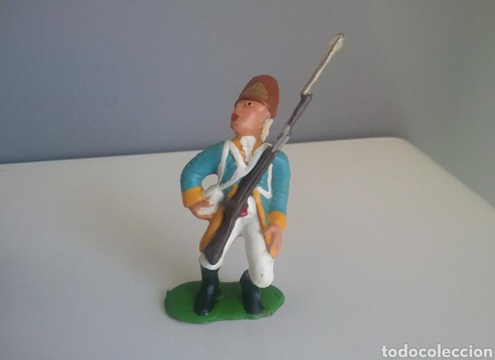 Figuras de Goma y PVC: Guerra revolución independencia americana,BMC soldados británicos,americanos y francés esc. britains - Foto 6 - 118255502