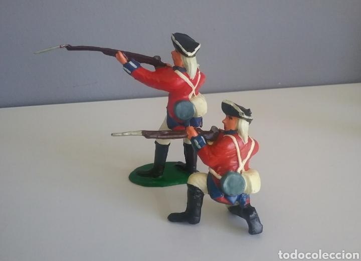 Figuras de Goma y PVC: Guerra revolución independencia americana,BMC soldados británicos,americanos y francés esc. britains - Foto 8 - 118255502
