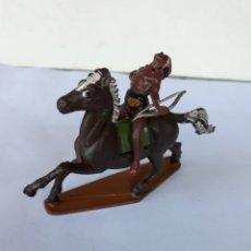Figuras de Goma y PVC: FIGURA GAMA INDIO A CABALLO EN GOMA. Lote 118260008