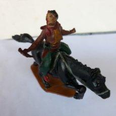 Figuras de Goma y PVC: FIGURA VAQUERO A CABALLO DE GAMA EN GOMA. Lote 118260270