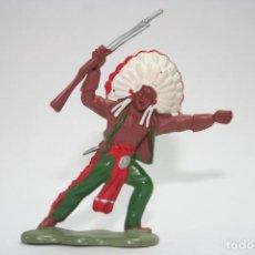 Figuras de Goma y PVC: FIGURA INDIO BRITAINS. Lote 118348435