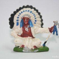 Figuras de Goma y PVC: FIGURA INDIO SENTADO BRITAINS. Lote 118348851