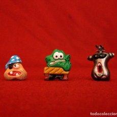 Figuras de Goma y PVC: 3 GOGOS. DUNKIN DE LUXE. POLÍCROMAS.. Lote 118357903
