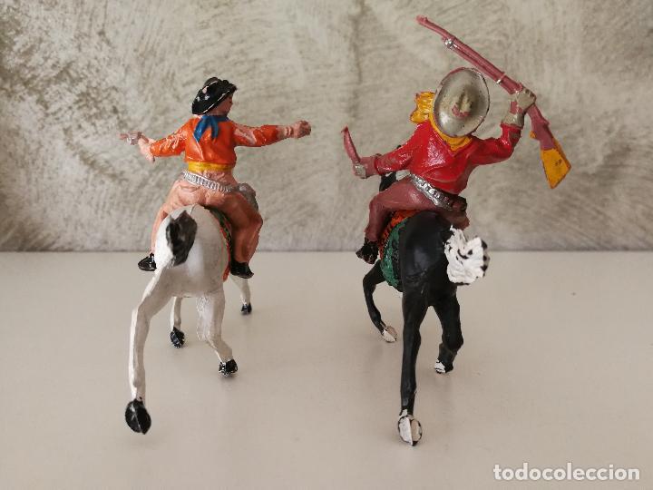 Figuras de Goma y PVC: VAQUEROS A CABALLO DE GOMA LAFREDO - Foto 3 - 118449903