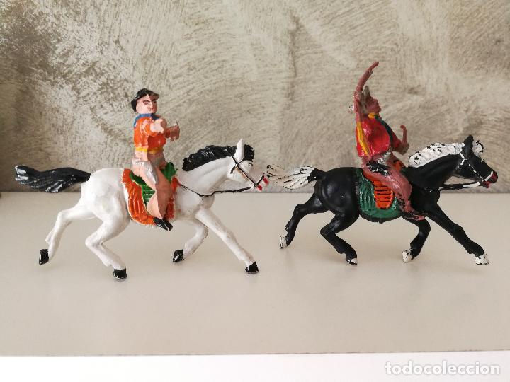 Figuras de Goma y PVC: VAQUEROS A CABALLO DE GOMA LAFREDO - Foto 4 - 118449903