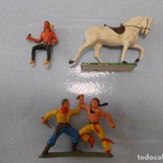Figuras de Goma y PVC: STARLUX ORIGINAL: LOTE OESTE INDIOS Y VAQUERO, COWBOY AÑOS 70. NO REAMSA O JECSAN. PTOY. Lote 118458499