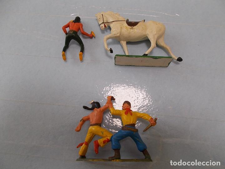 Figuras de Goma y PVC: STARLUX ORIGINAL: LOTE OESTE INDIOS Y VAQUERO, COWBOY AÑOS 70. NO REAMSA O JECSAN. PTOY - Foto 2 - 118458499