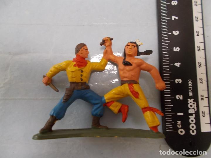 Figuras de Goma y PVC: STARLUX ORIGINAL: LOTE OESTE INDIOS Y VAQUERO, COWBOY AÑOS 70. NO REAMSA O JECSAN. PTOY - Foto 4 - 118458499