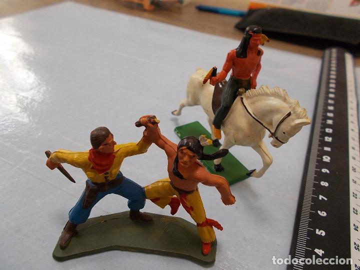 Figuras de Goma y PVC: STARLUX ORIGINAL: LOTE OESTE INDIOS Y VAQUERO, COWBOY AÑOS 70. NO REAMSA O JECSAN. PTOY - Foto 5 - 118458499
