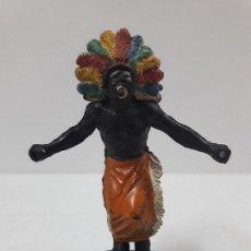 Figuras de Goma y PVC: GUERRERO AFRICANO KAKUANA . REALIZADO POR PECH . AÑOS 50 EN GOMA. Lote 118478891