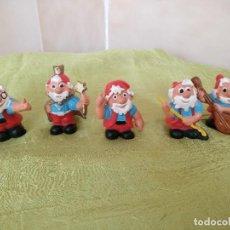 Figuras de Goma y PVC: LOTE DE 5 CURIOSAS Y RARAS FIGURAS PVC CASA SIPURO. Lote 118497559