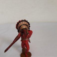 Figuras de Goma y PVC: FIGURA JEFE INDIO EN GOMA DE GAMA. Lote 118618244