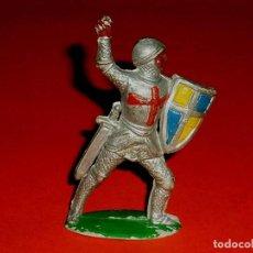 Figuras de Goma y PVC: MEDIEVAL CRISTIANO CRUZADO, FABRICADO EN GOMA, PECH, ORIGINAL AÑOS 60.. Lote 118675811