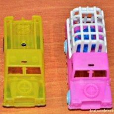 Figuras de Goma y PVC: PIPERO: LOTE DE 2 LAND ROVER SANTANA EN PLÁSTICO DE VAM Y RUIZ KIOSCO AÑOS 70/80. Lote 118707487