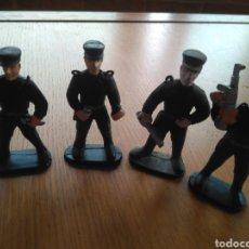 Figuras de Goma y PVC: 4 FIGURAS PLÁSTICO PVC POLICIA 7 CM.. Lote 119012723