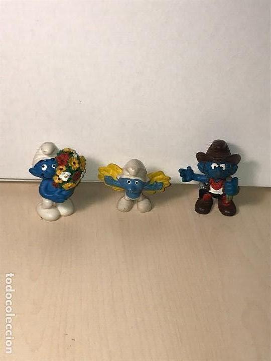 3 PITUFOS MUÑECOS DE GOMA 1981. VER DESCRIPCIÓN (Juguetes - Figuras de Goma y Pvc - Schleich)